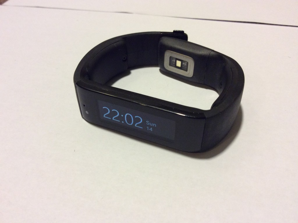 Microsoft Band from the front right