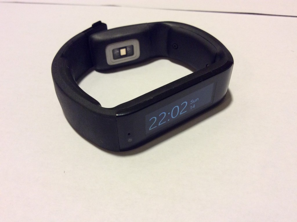 Microsoft Band from the front left